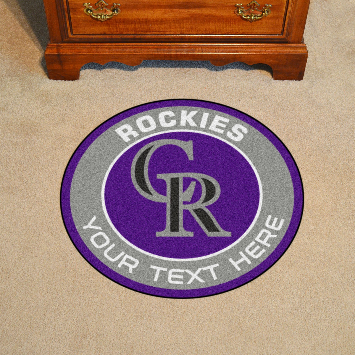 MLB Personalized Roundel Mat Personalized Roundel Mat Fan Mats Colorado Rockies