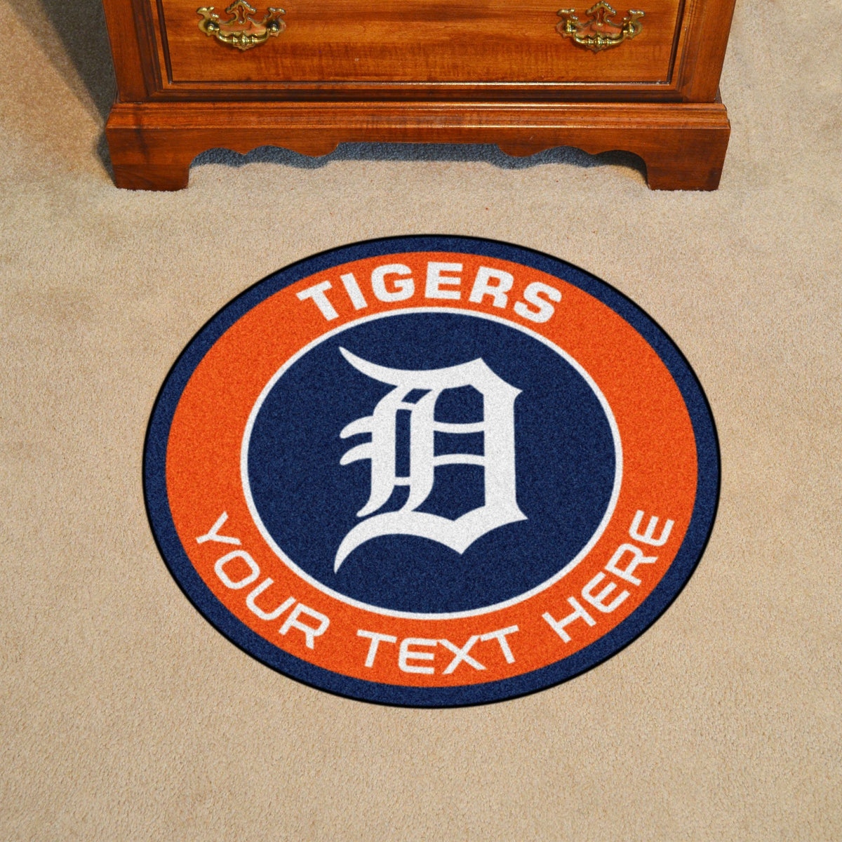MLB Personalized Roundel Mat Personalized Roundel Mat Fan Mats Detroit Tigers