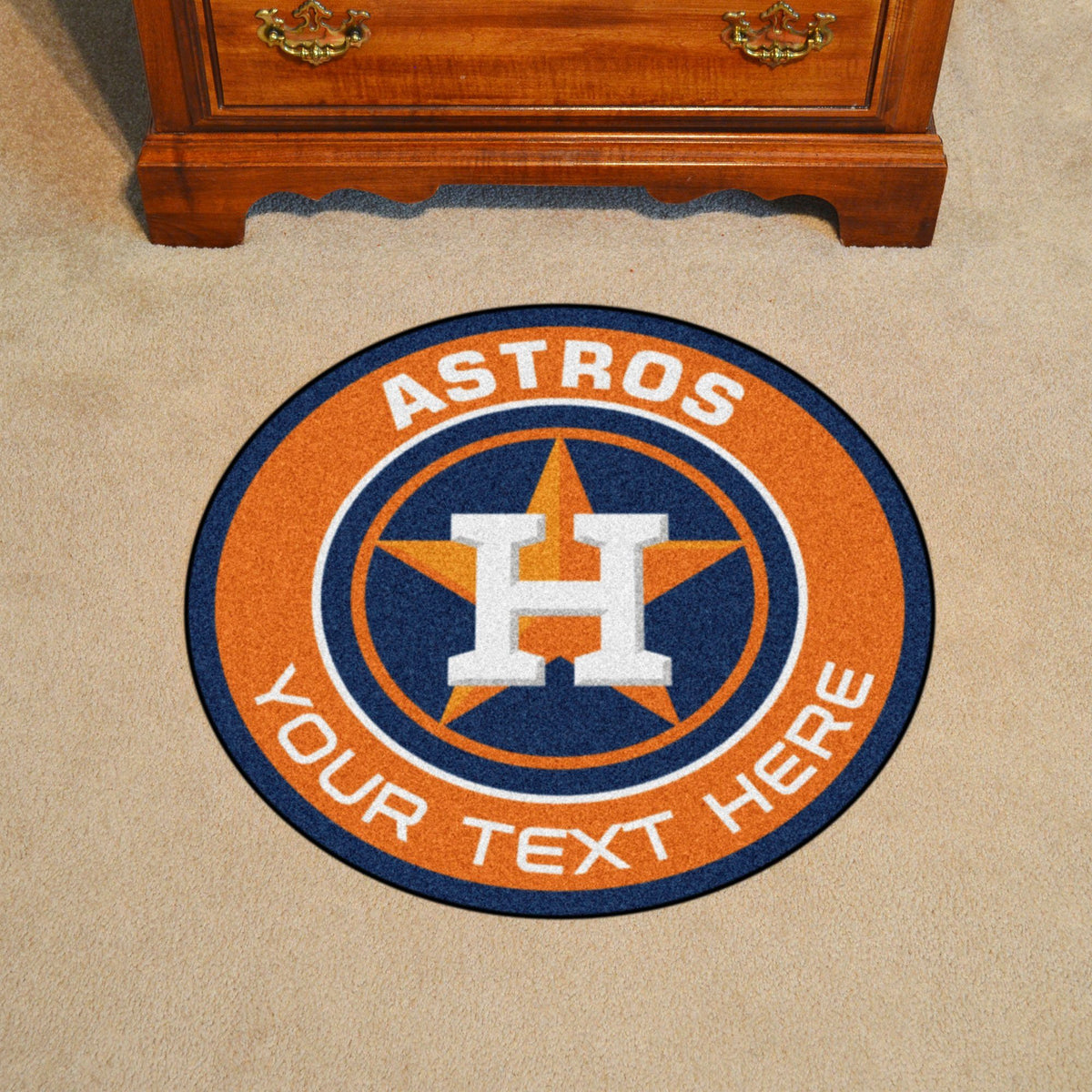 MLB Personalized Roundel Mat Personalized Roundel Mat Fan Mats Houston Astros