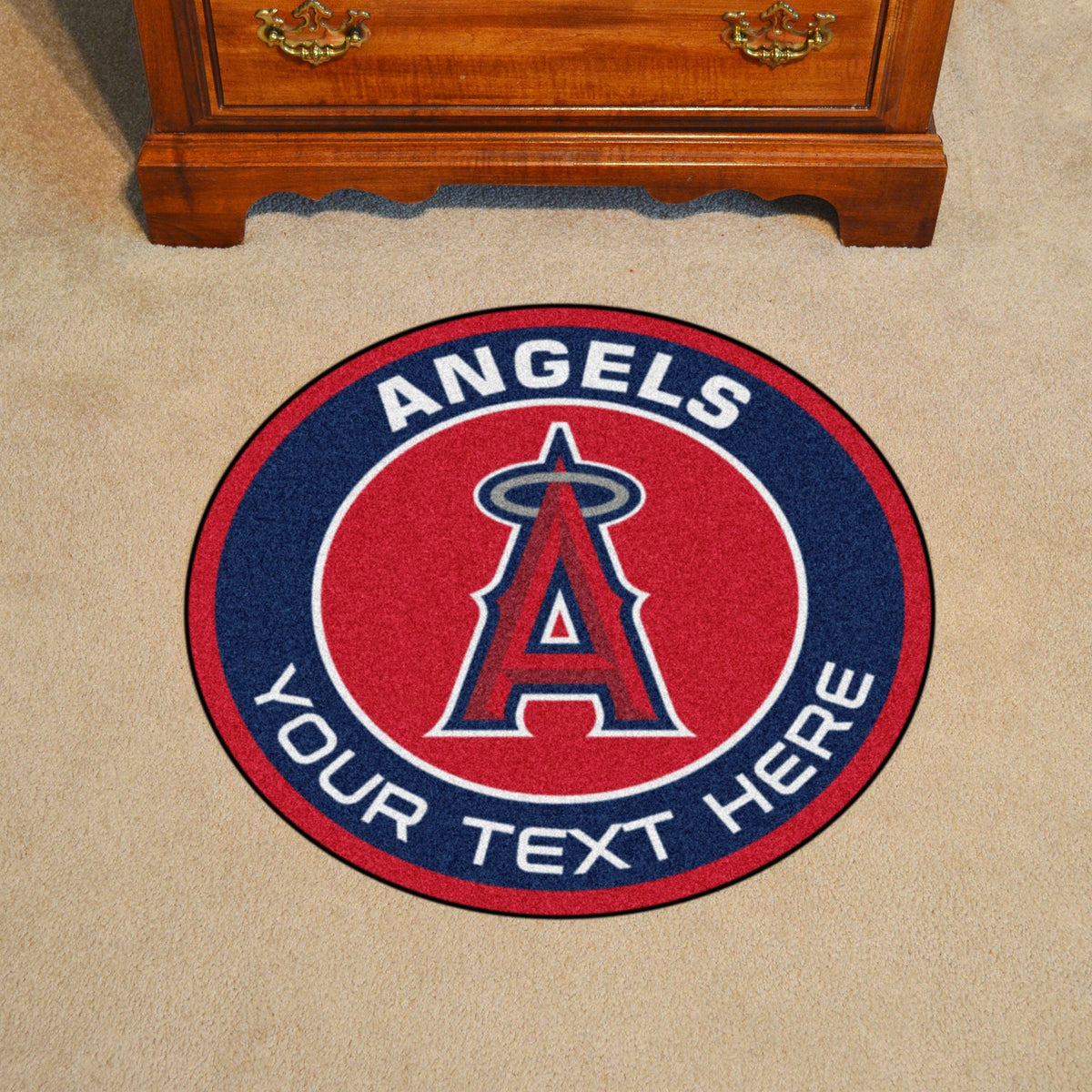 MLB Personalized Roundel Mat Personalized Roundel Mat Fan Mats Los Angeles Angels