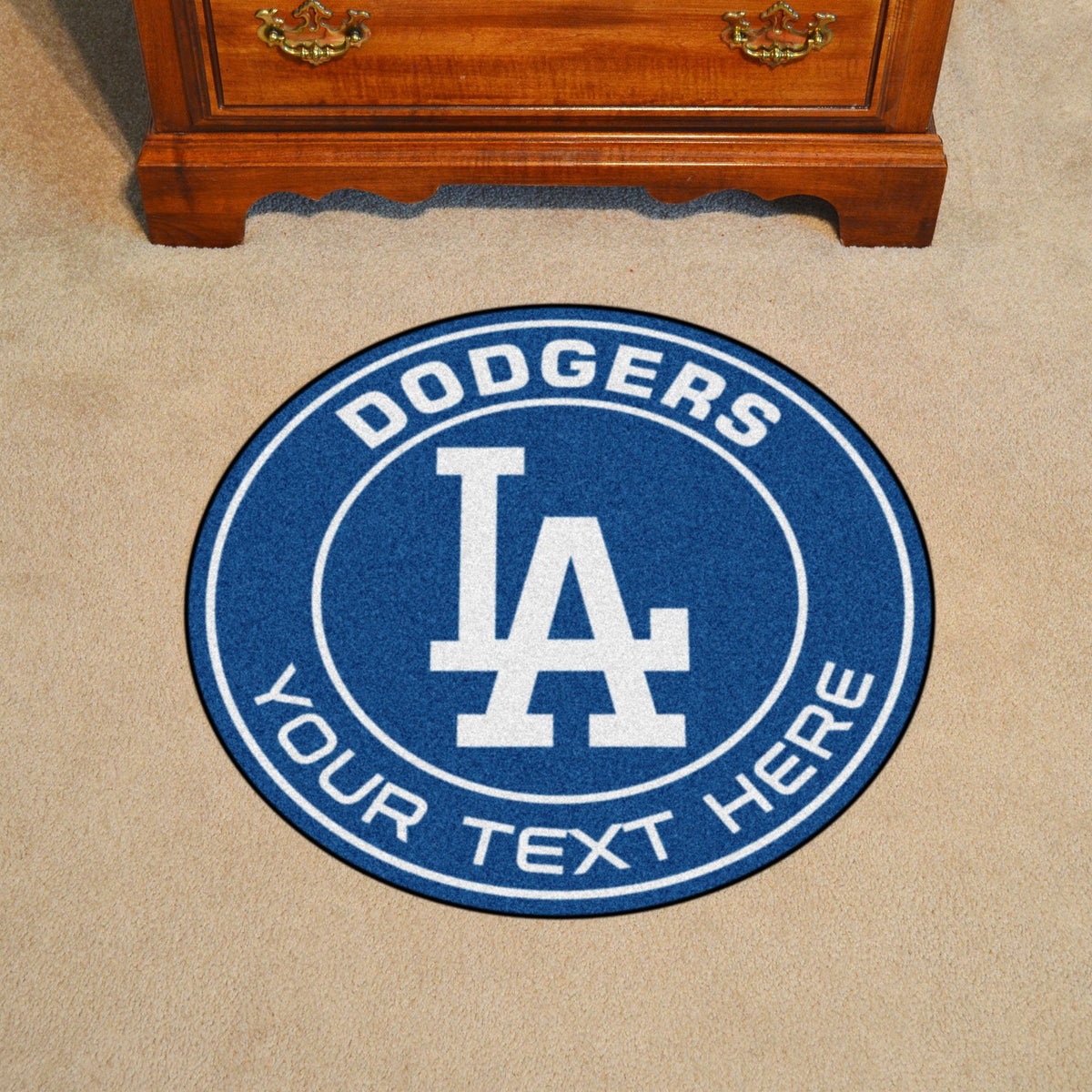 MLB Personalized Roundel Mat Personalized Roundel Mat Fan Mats Los Angeles Dodgers