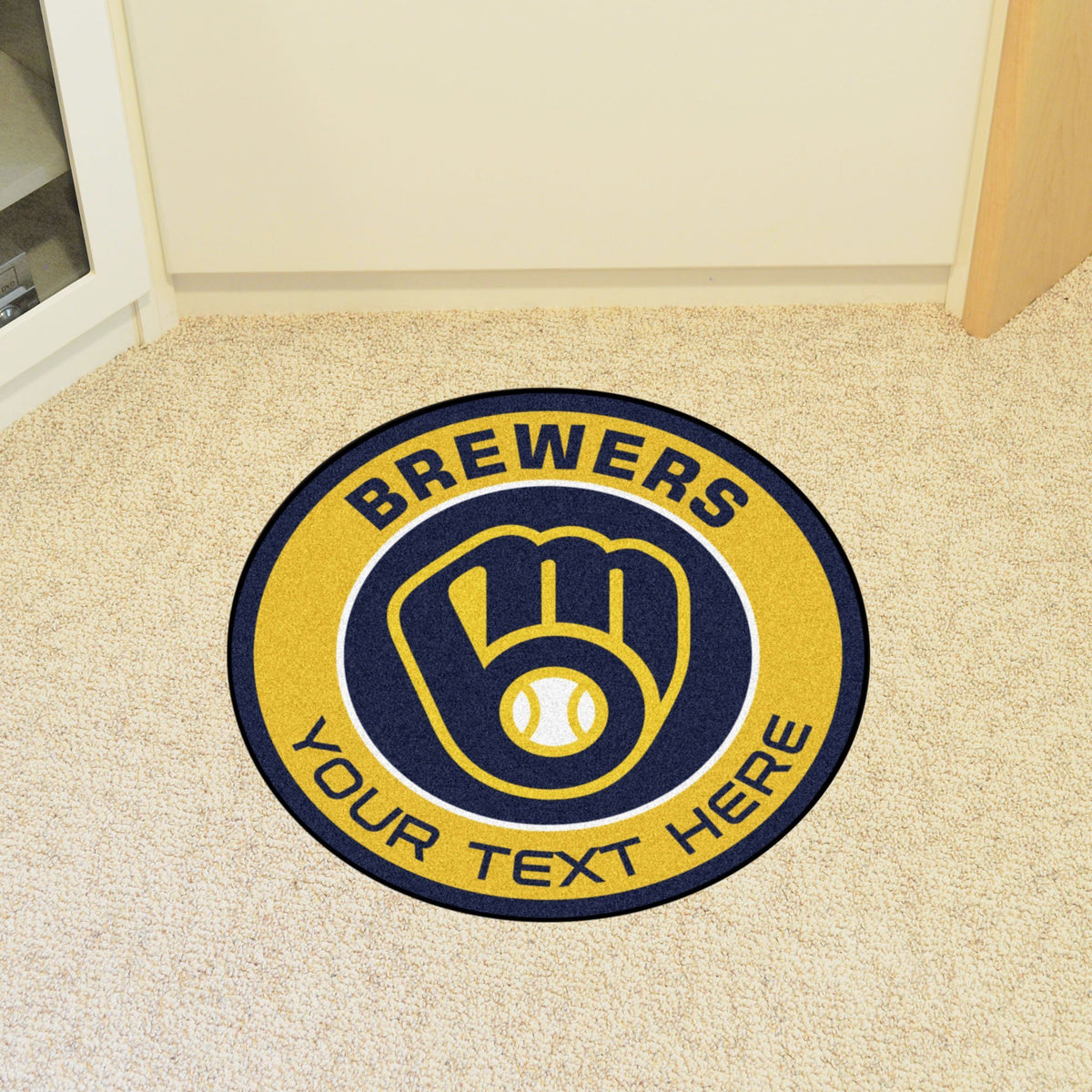 MLB Personalized Roundel Mat Personalized Roundel Mat Fan Mats Milwaukee Brewers