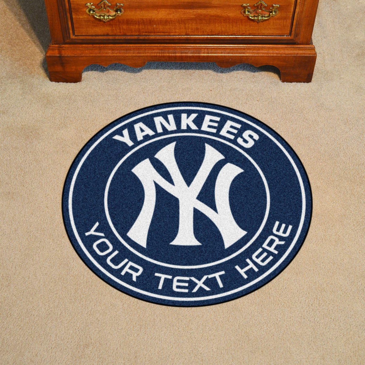MLB Personalized Roundel Mat Personalized Roundel Mat Fan Mats New York Yankees