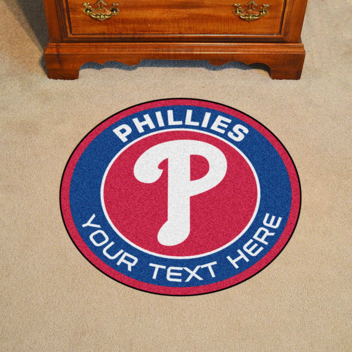 MLB Personalized Roundel Mat Personalized Roundel Mat Fan Mats Philadelphia Phillies