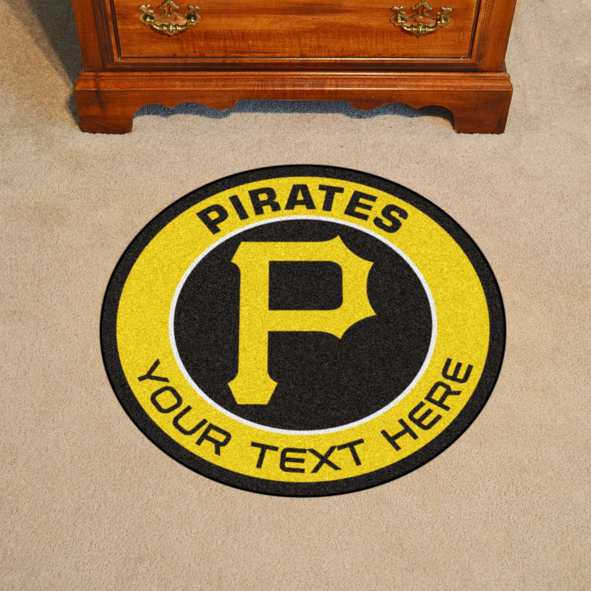 MLB Personalized Roundel Mat Personalized Roundel Mat Fan Mats Pittsburgh Pirates