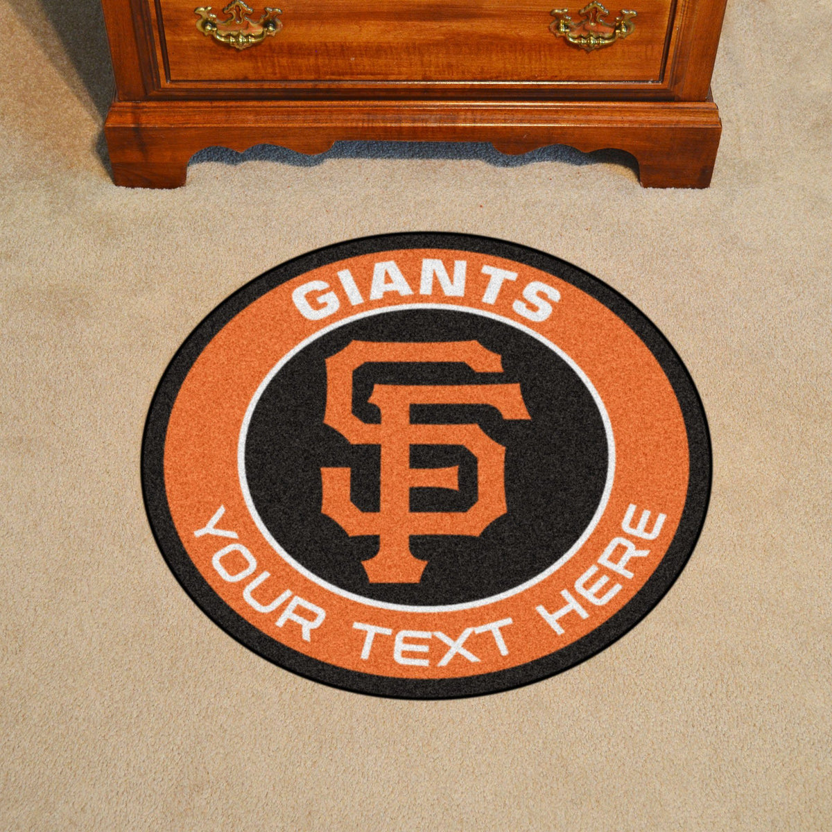 MLB Personalized Roundel Mat Personalized Roundel Mat Fan Mats San Francisco Giants