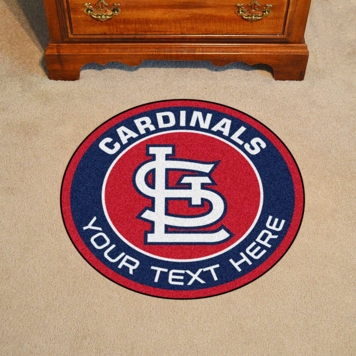 MLB Personalized Roundel Mat Personalized Roundel Mat Fan Mats St. Louis Cardinals