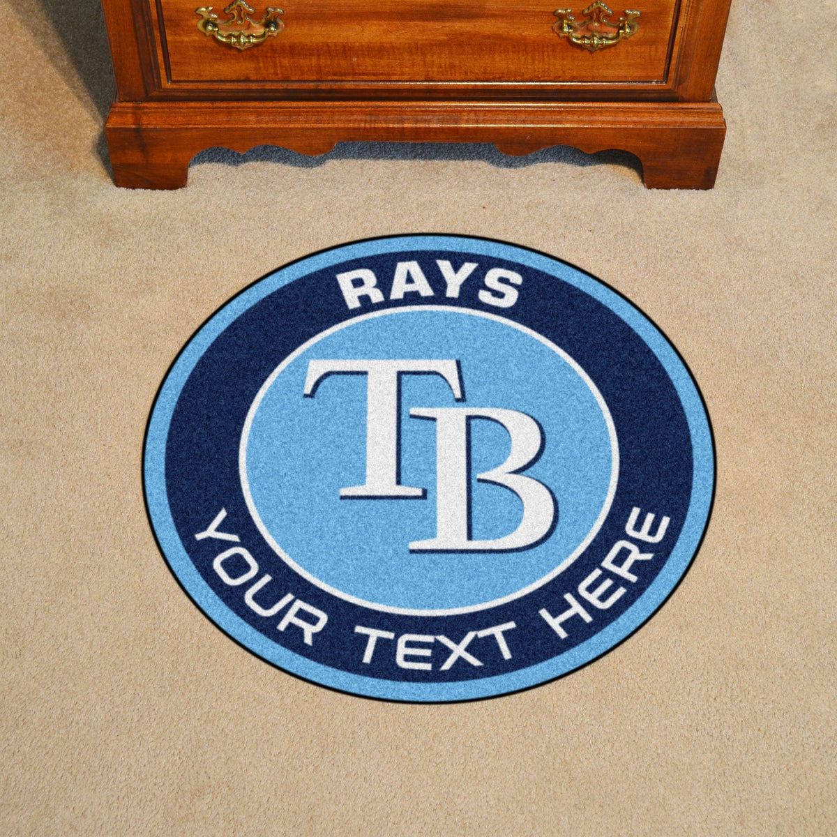 MLB Personalized Roundel Mat Personalized Roundel Mat Fan Mats Tampa Bay Rays