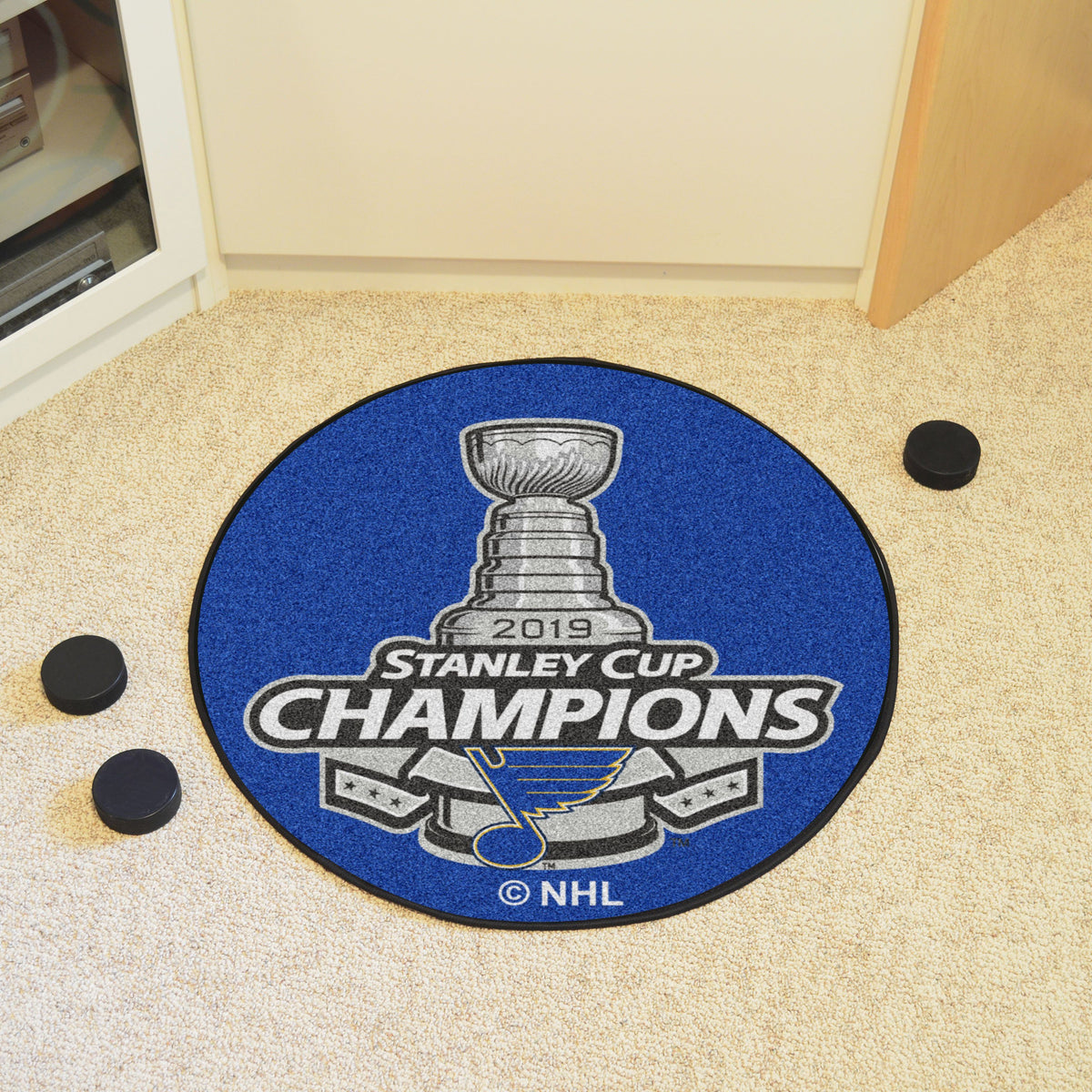 NHL Hockey Puck Mat NHL Hockey Puck Mat Fan Mats St. Louis Blues 2