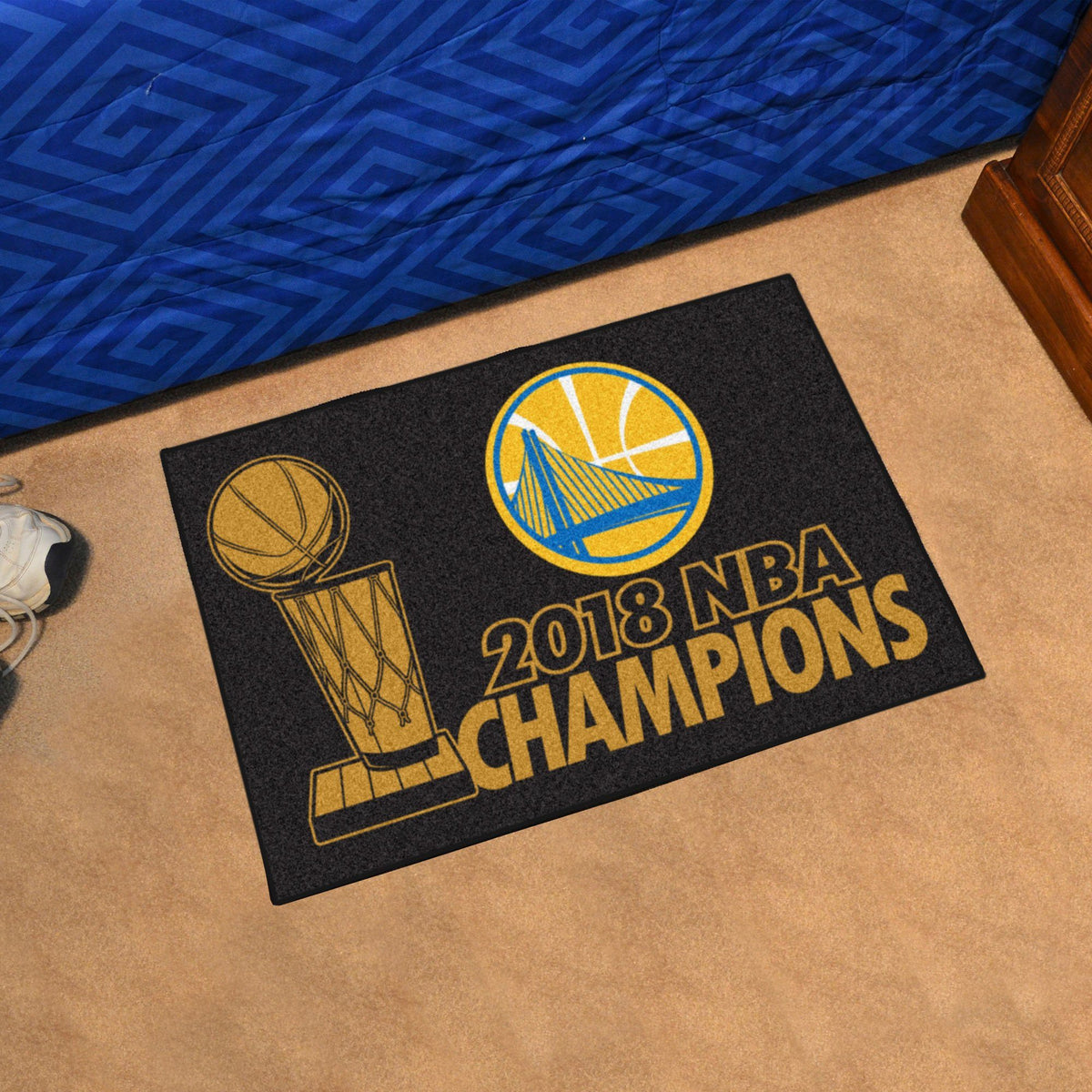 NBA - Championship Starter Mat NBA Mats, Rectangular Mats, Championship Starter Mat, NBA, Home Fan Mats Golden State Warriors
