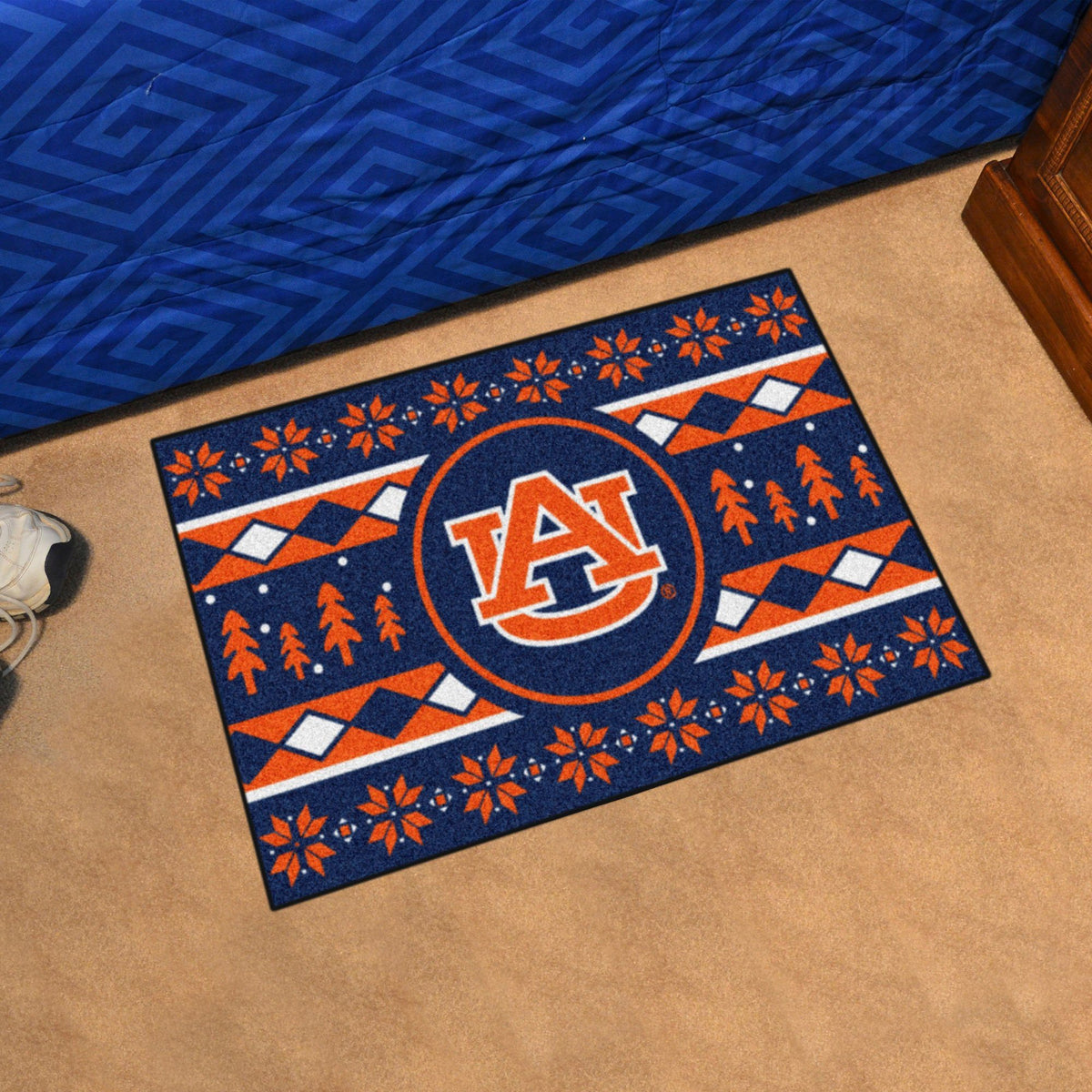 Collegiate - Holiday Sweater Starter Mat Collegiate Mats, Rectangular Mats, Holiday Sweater Starter Mat, Collegiate, Home Fan Mats Auburn