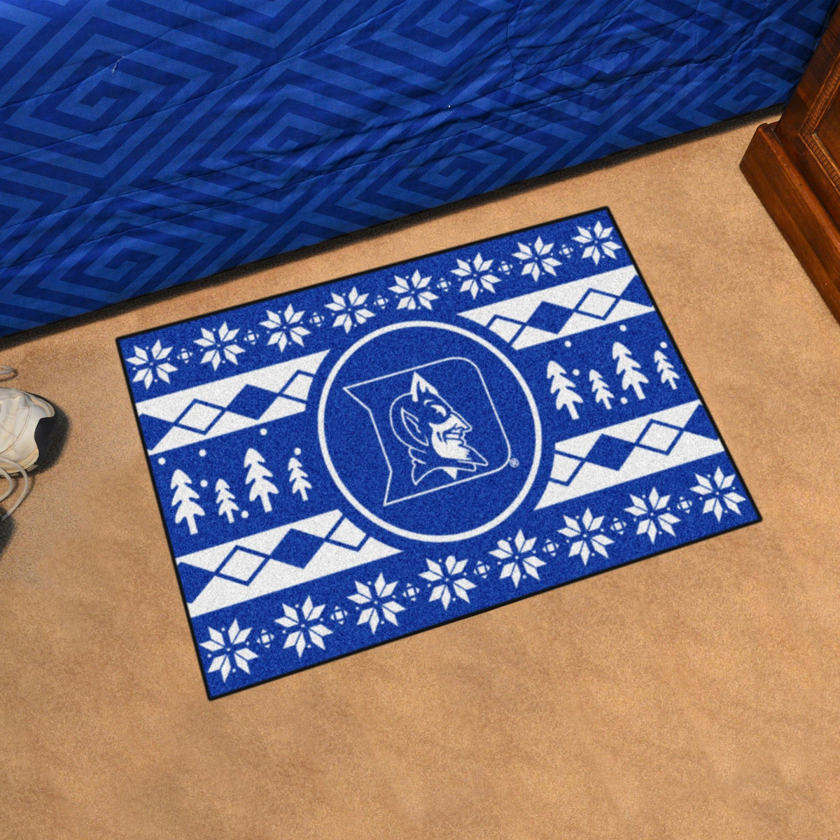 Collegiate - Holiday Sweater Starter Mat Collegiate Mats, Rectangular Mats, Holiday Sweater Starter Mat, Collegiate, Home Fan Mats Duke