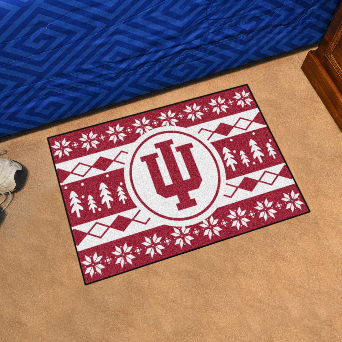 Collegiate - Holiday Sweater Starter Mat Collegiate Mats, Rectangular Mats, Holiday Sweater Starter Mat, Collegiate, Home Fan Mats Indiana