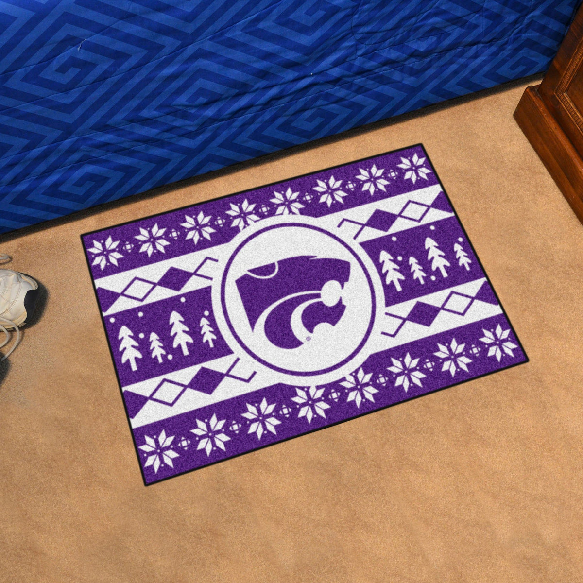 Collegiate - Holiday Sweater Starter Mat Collegiate Mats, Rectangular Mats, Holiday Sweater Starter Mat, Collegiate, Home Fan Mats Kansas State