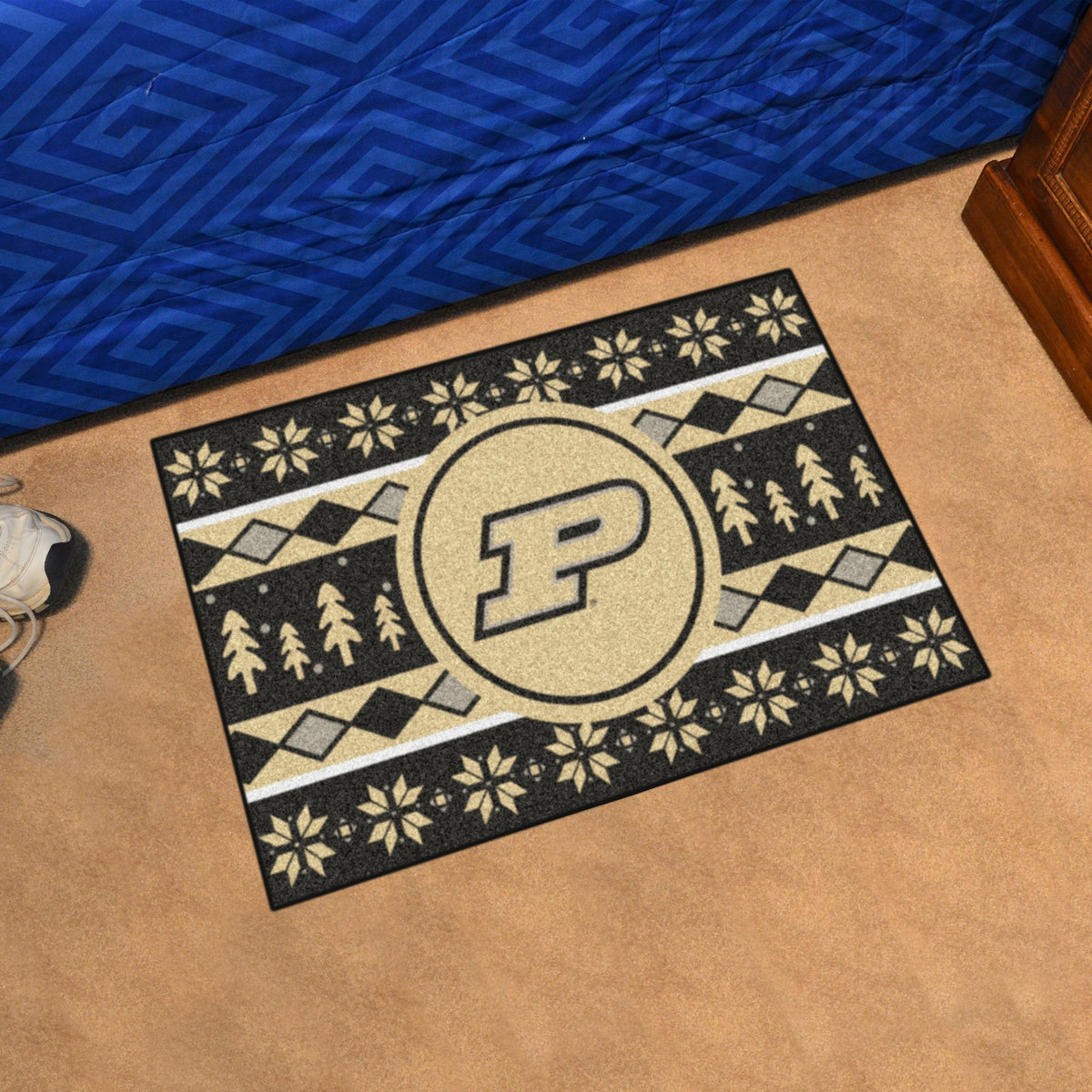 Collegiate - Holiday Sweater Starter Mat Collegiate Mats, Rectangular Mats, Holiday Sweater Starter Mat, Collegiate, Home Fan Mats Purdue