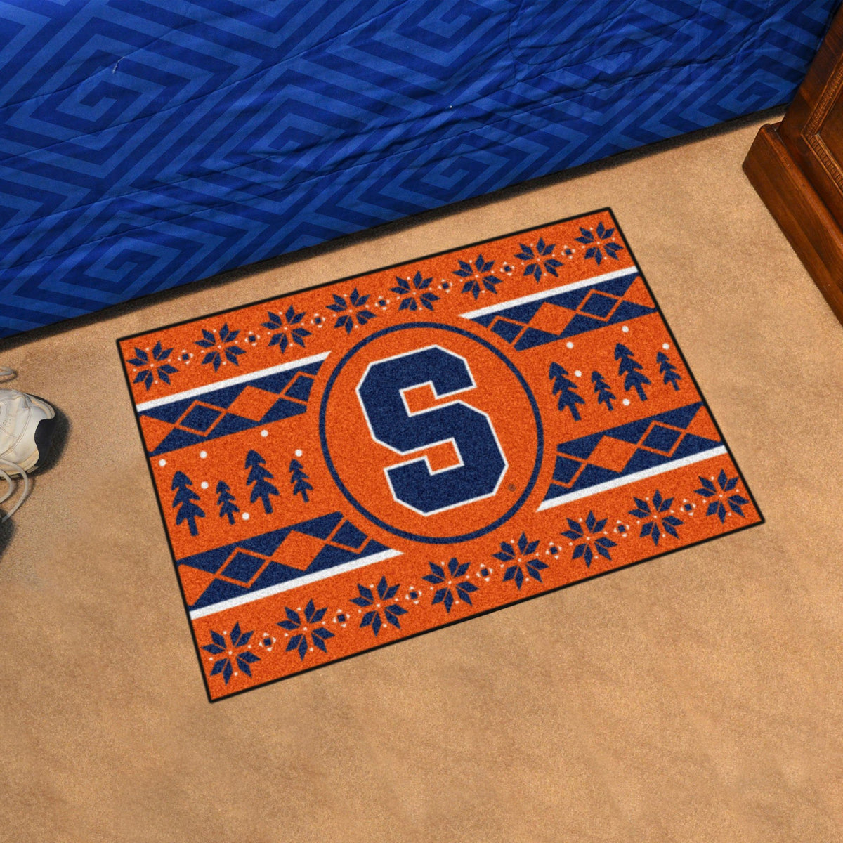 Collegiate - Holiday Sweater Starter Mat Collegiate Mats, Rectangular Mats, Holiday Sweater Starter Mat, Collegiate, Home Fan Mats Syracuse