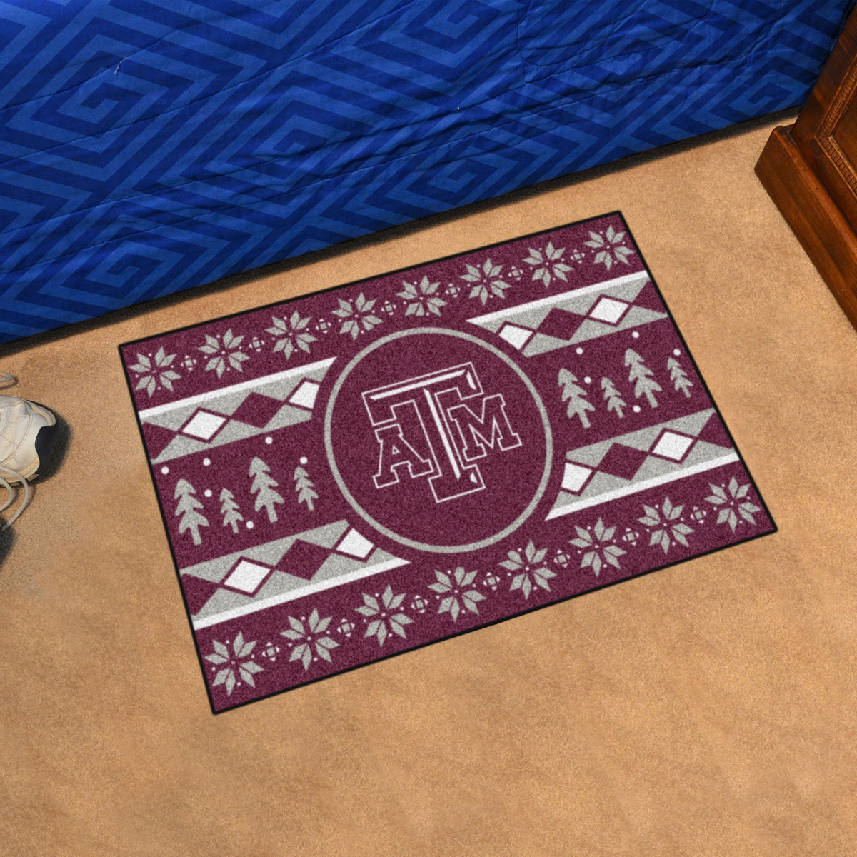 Collegiate - Holiday Sweater Starter Mat Collegiate Mats, Rectangular Mats, Holiday Sweater Starter Mat, Collegiate, Home Fan Mats Texas A&M