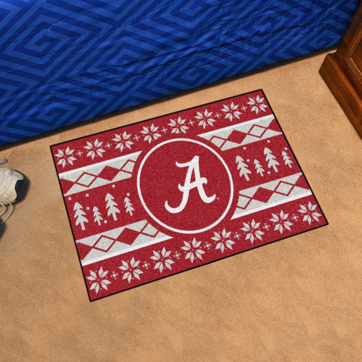Collegiate - Holiday Sweater Starter Mat Collegiate Mats, Rectangular Mats, Holiday Sweater Starter Mat, Collegiate, Home Fan Mats Alabama
