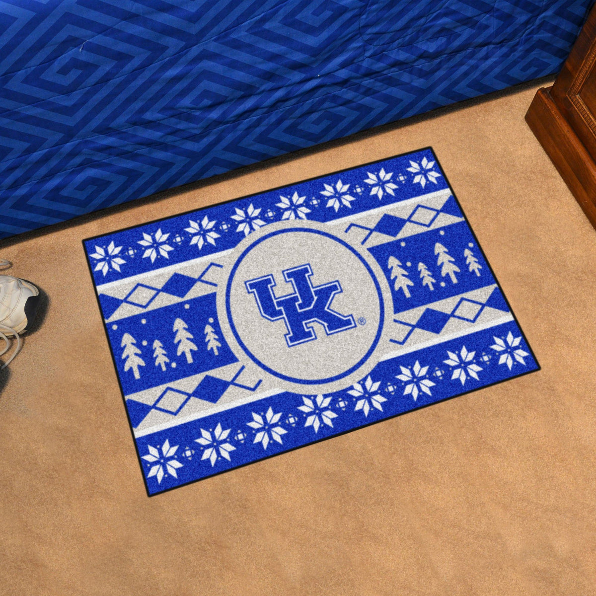 Collegiate - Holiday Sweater Starter Mat Collegiate Mats, Rectangular Mats, Holiday Sweater Starter Mat, Collegiate, Home Fan Mats Kentucky