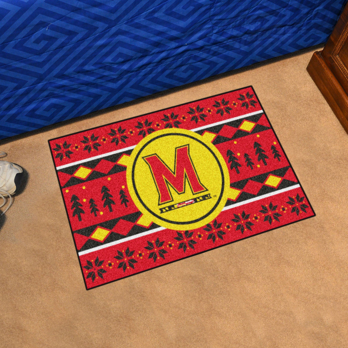 Collegiate - Holiday Sweater Starter Mat Collegiate Mats, Rectangular Mats, Holiday Sweater Starter Mat, Collegiate, Home Fan Mats Maryland