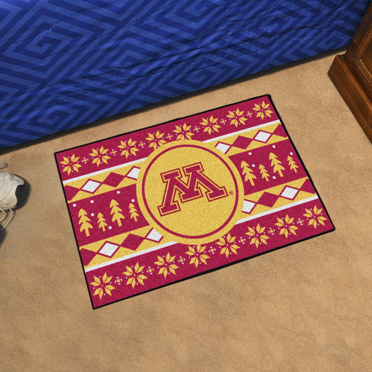 Collegiate - Holiday Sweater Starter Mat Collegiate Mats, Rectangular Mats, Holiday Sweater Starter Mat, Collegiate, Home Fan Mats Minnesota