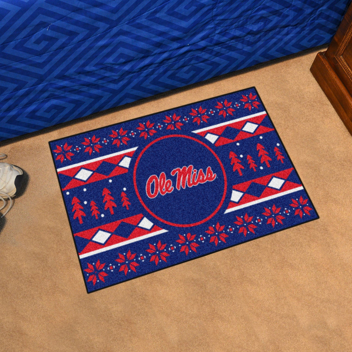 Collegiate - Holiday Sweater Starter Mat Collegiate Mats, Rectangular Mats, Holiday Sweater Starter Mat, Collegiate, Home Fan Mats Ole Miss
