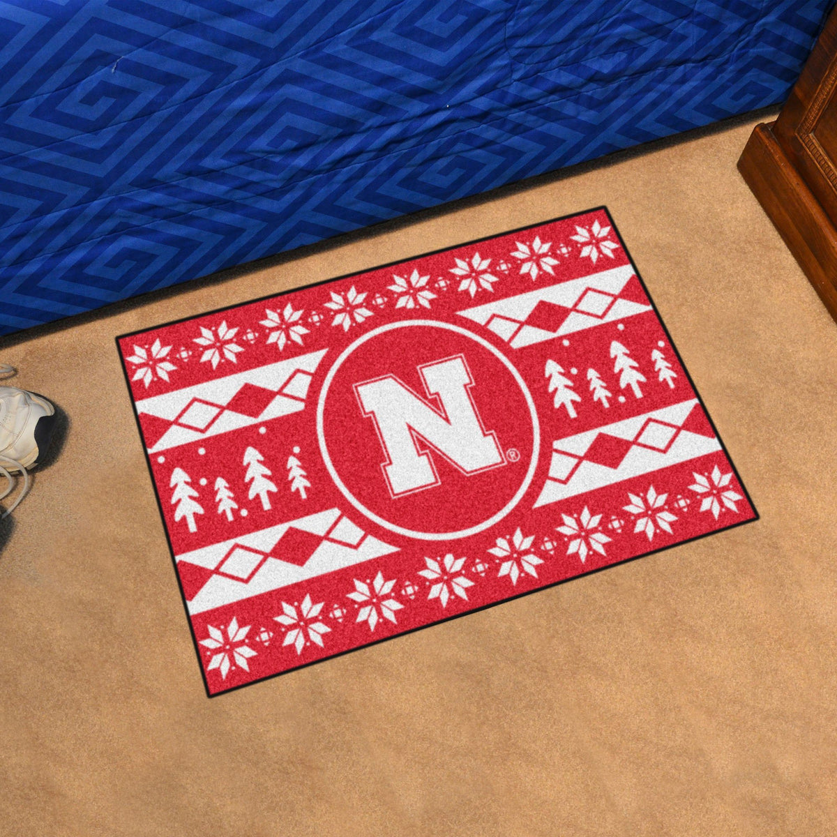 Collegiate - Holiday Sweater Starter Mat Collegiate Mats, Rectangular Mats, Holiday Sweater Starter Mat, Collegiate, Home Fan Mats Nebraska