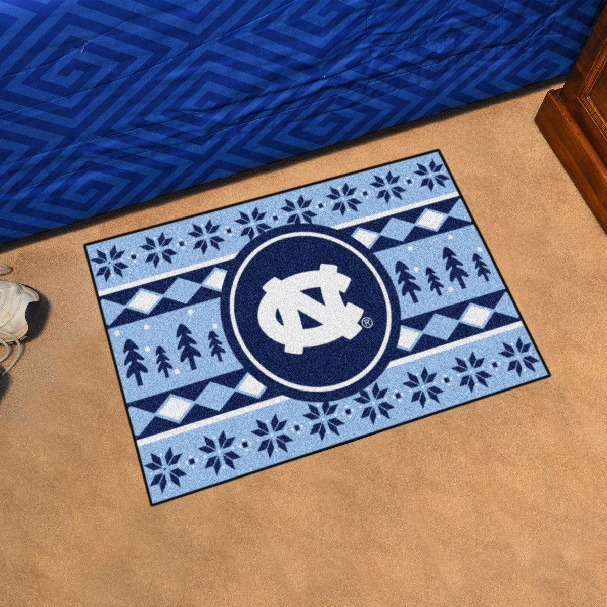 Collegiate - Holiday Sweater Starter Mat Collegiate Mats, Rectangular Mats, Holiday Sweater Starter Mat, Collegiate, Home Fan Mats North Carolina
