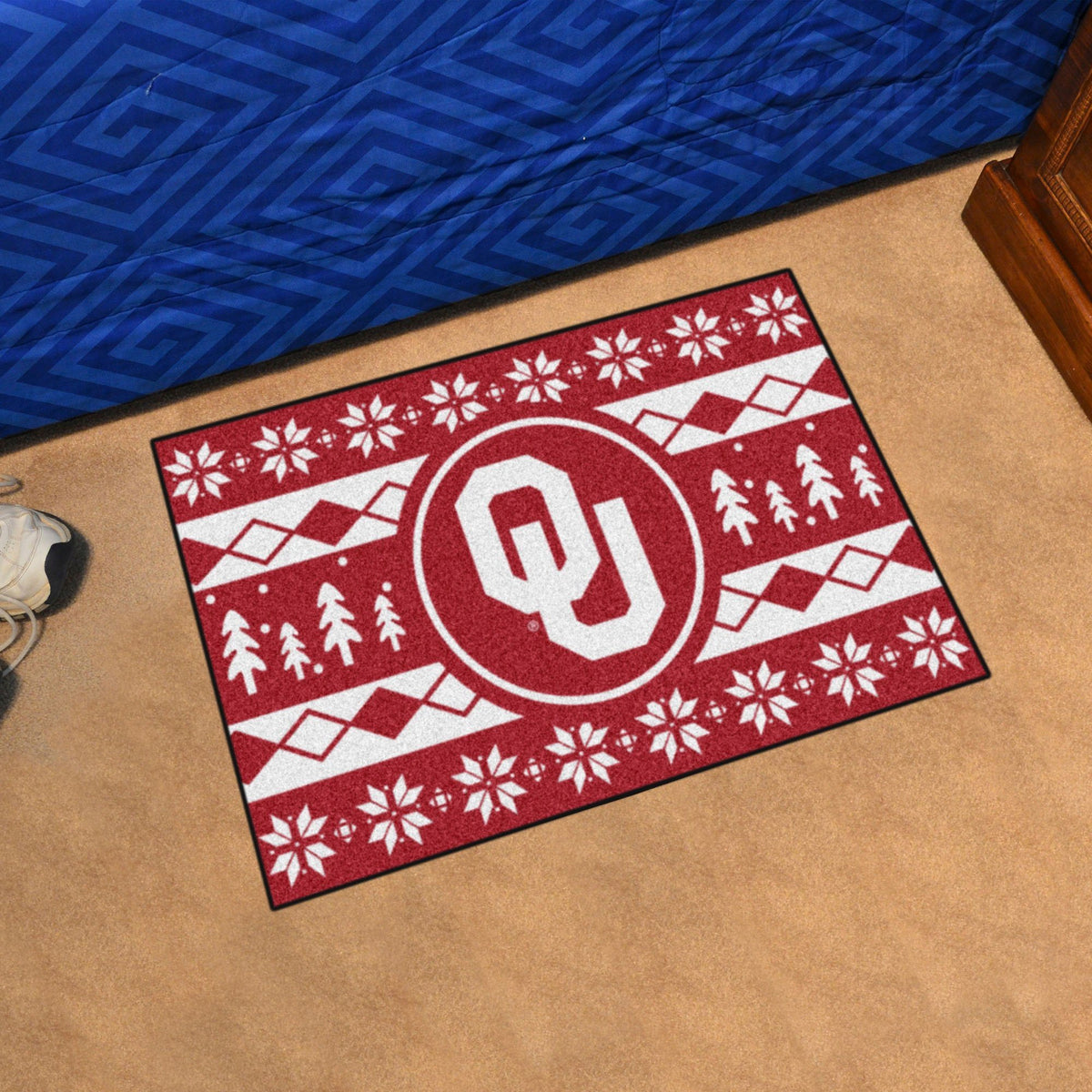 Collegiate - Holiday Sweater Starter Mat Collegiate Mats, Rectangular Mats, Holiday Sweater Starter Mat, Collegiate, Home Fan Mats Oklahoma