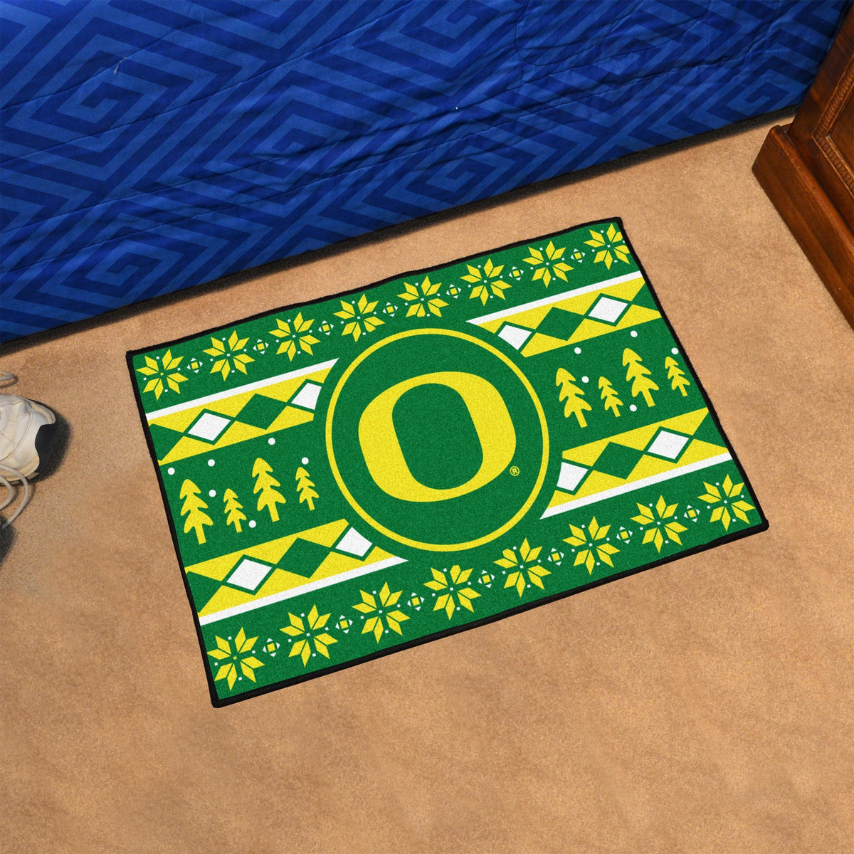 Collegiate - Holiday Sweater Starter Mat Collegiate Mats, Rectangular Mats, Holiday Sweater Starter Mat, Collegiate, Home Fan Mats Oregon