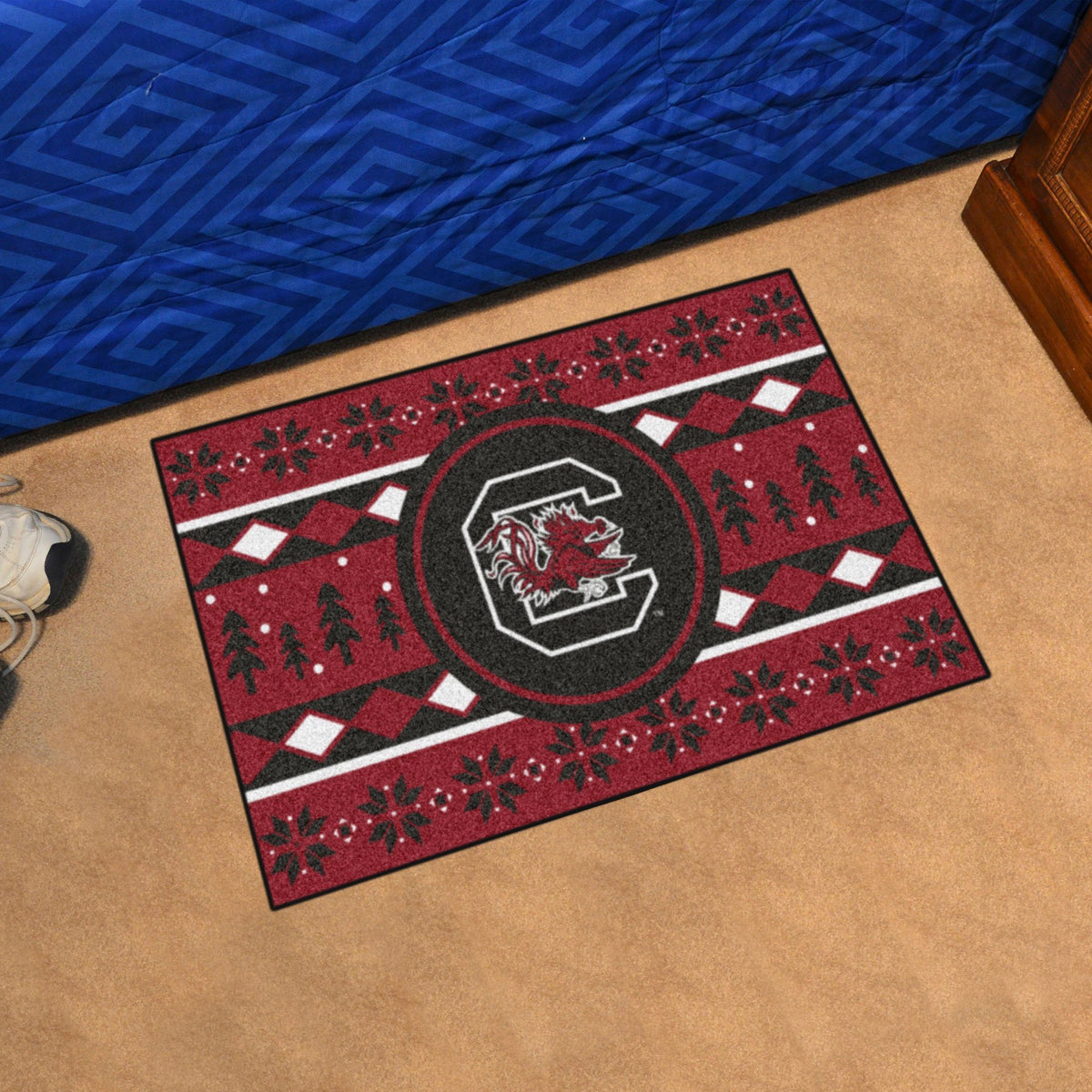 Collegiate - Holiday Sweater Starter Mat Collegiate Mats, Rectangular Mats, Holiday Sweater Starter Mat, Collegiate, Home Fan Mats South Carolina