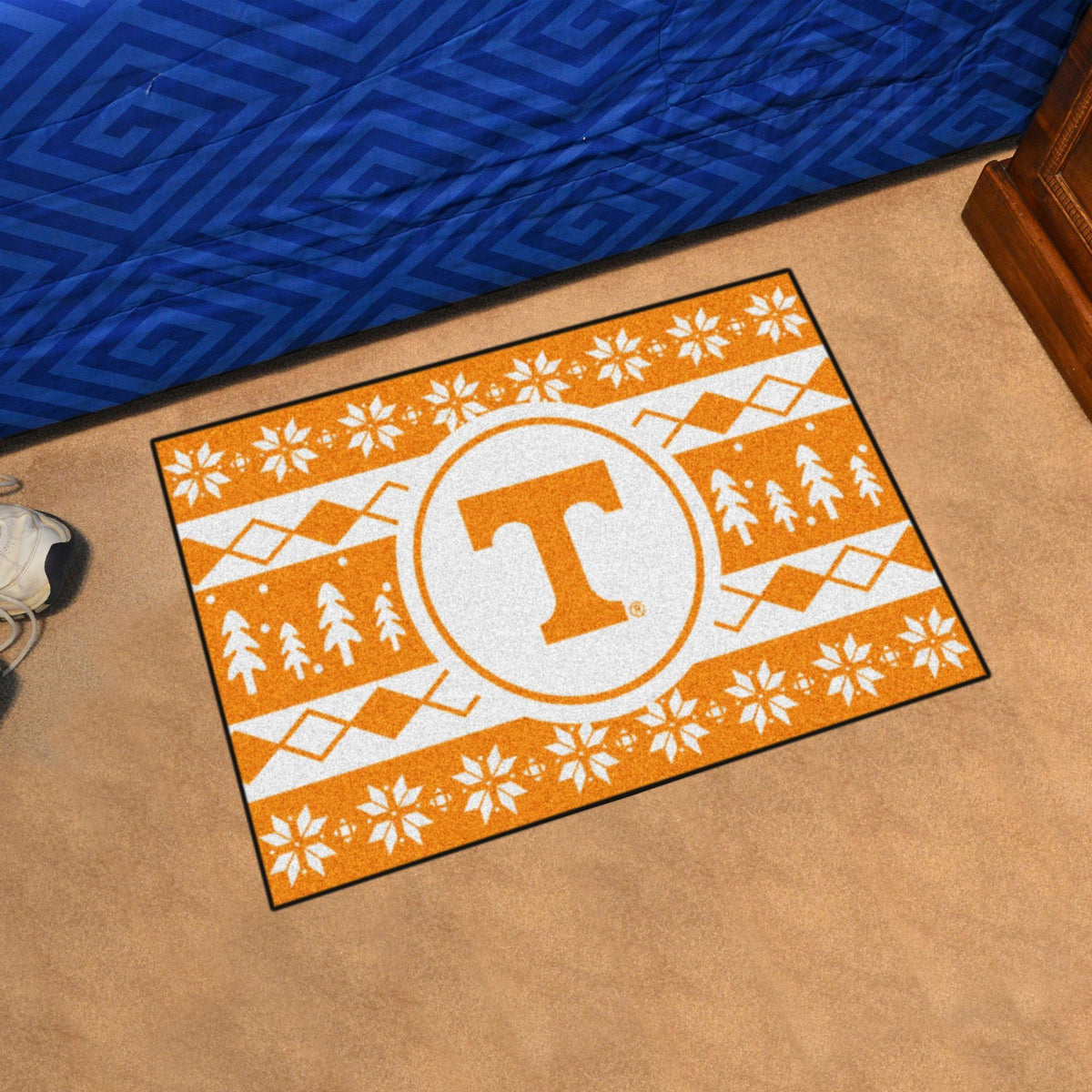 Collegiate - Holiday Sweater Starter Mat Collegiate Mats, Rectangular Mats, Holiday Sweater Starter Mat, Collegiate, Home Fan Mats Tennessee