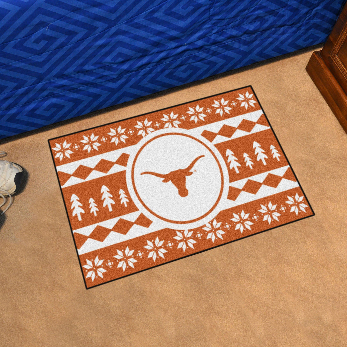 Collegiate - Holiday Sweater Starter Mat Collegiate Mats, Rectangular Mats, Holiday Sweater Starter Mat, Collegiate, Home Fan Mats Texas