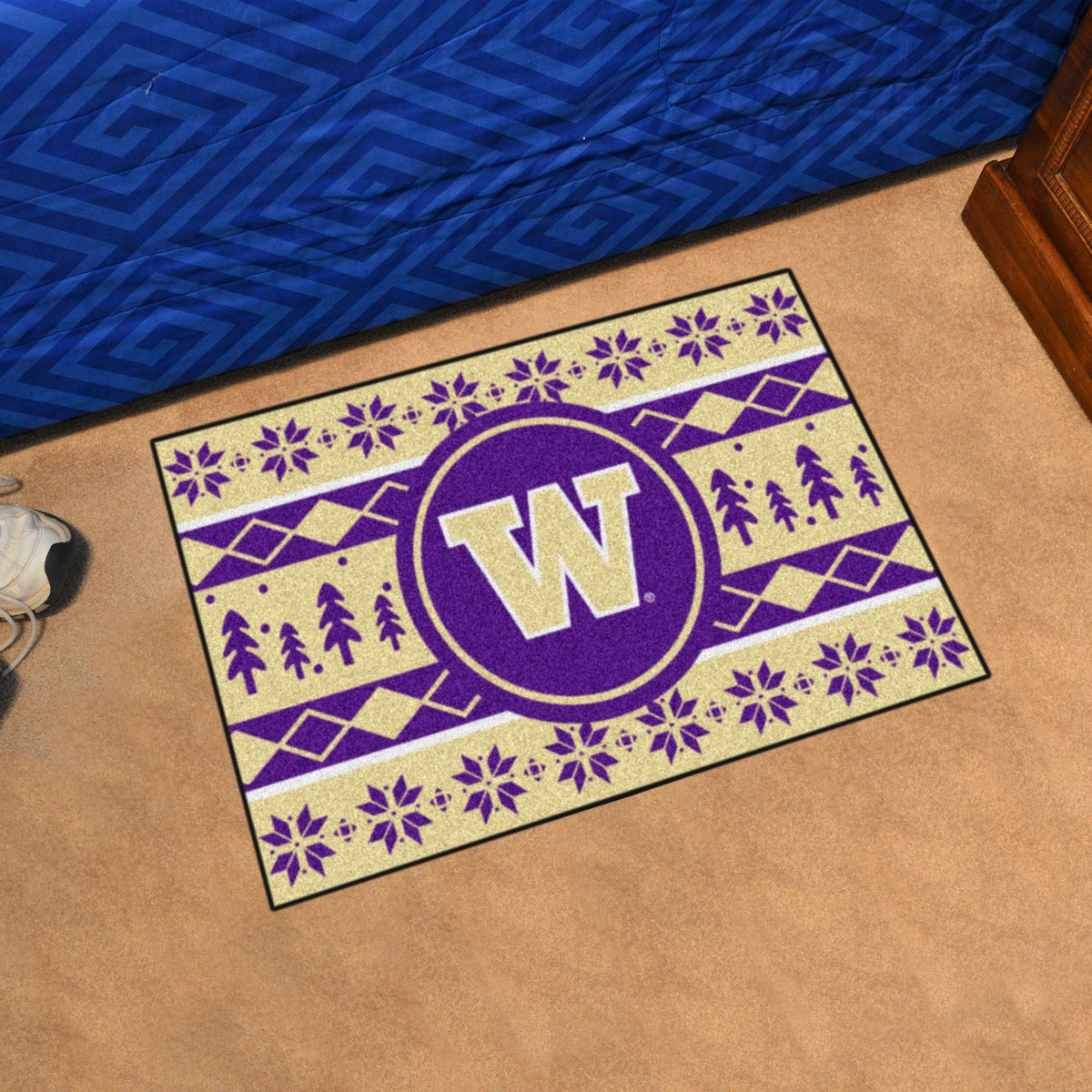 Collegiate - Holiday Sweater Starter Mat Collegiate Mats, Rectangular Mats, Holiday Sweater Starter Mat, Collegiate, Home Fan Mats Washington