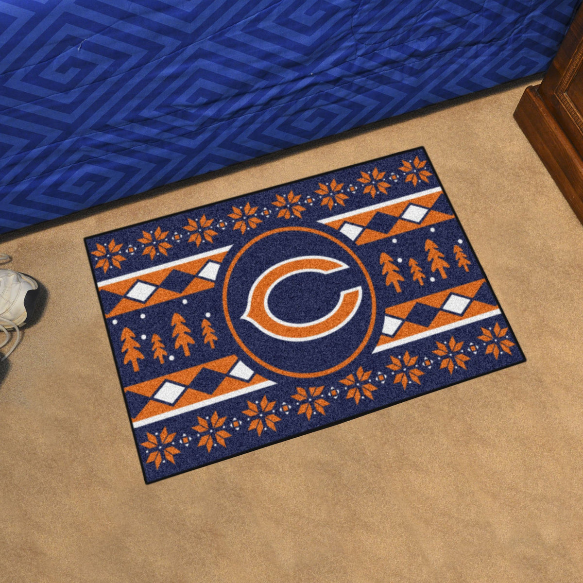 "NFL - Holiday Sweater Starter Mat, 19"" x 30"" NFL Mats, Rectangular Mats, Holiday Sweater Starter Mat, NFL, Home Fan Mats Chicago Bears"