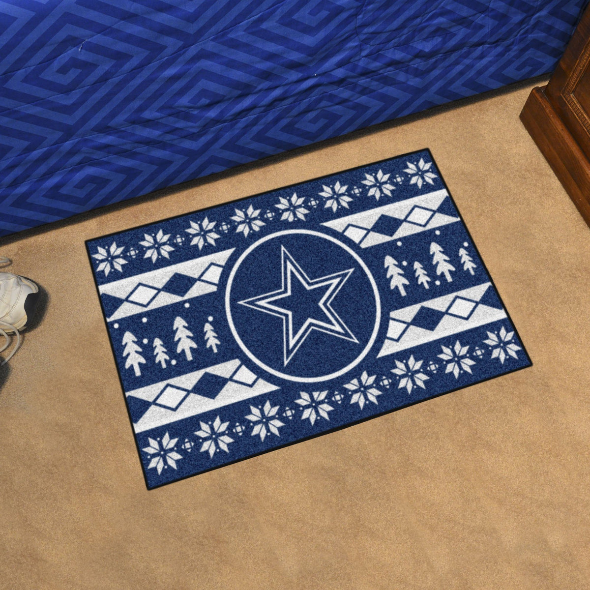 "NFL - Holiday Sweater Starter Mat, 19"" x 30"" NFL Mats, Rectangular Mats, Holiday Sweater Starter Mat, NFL, Home Fan Mats Dallas Cowboys"