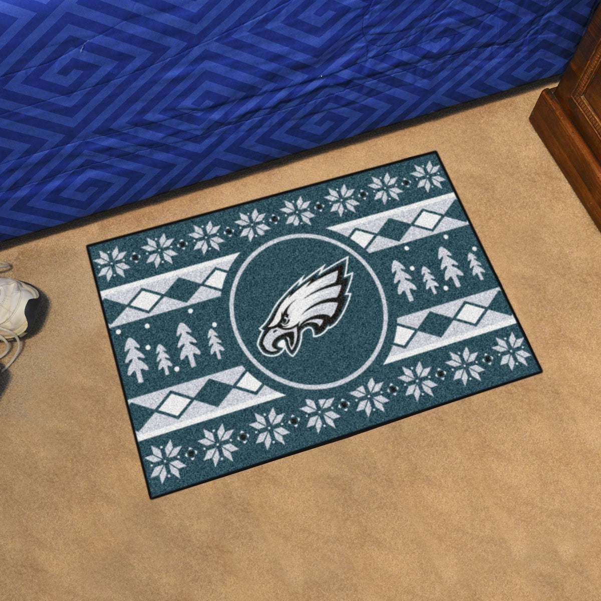 "NFL - Holiday Sweater Starter Mat, 19"" x 30"" NFL Mats, Rectangular Mats, Holiday Sweater Starter Mat, NFL, Home Fan Mats Philadelphia Eagles"