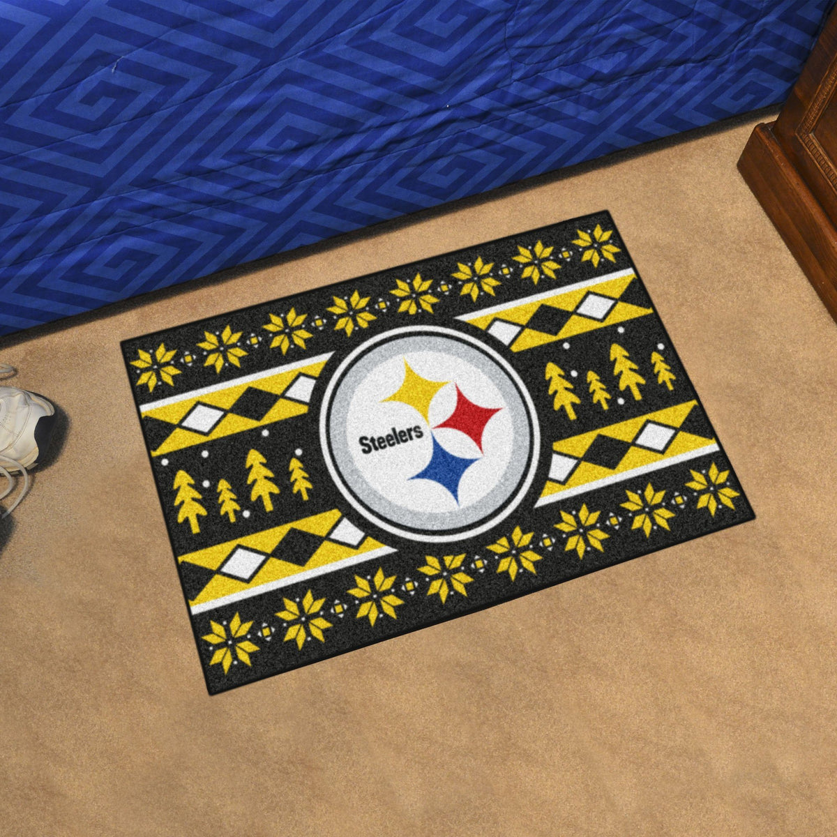 "NFL - Holiday Sweater Starter Mat, 19"" x 30"" NFL Mats, Rectangular Mats, Holiday Sweater Starter Mat, NFL, Home Fan Mats Pittsburgh Steelers"