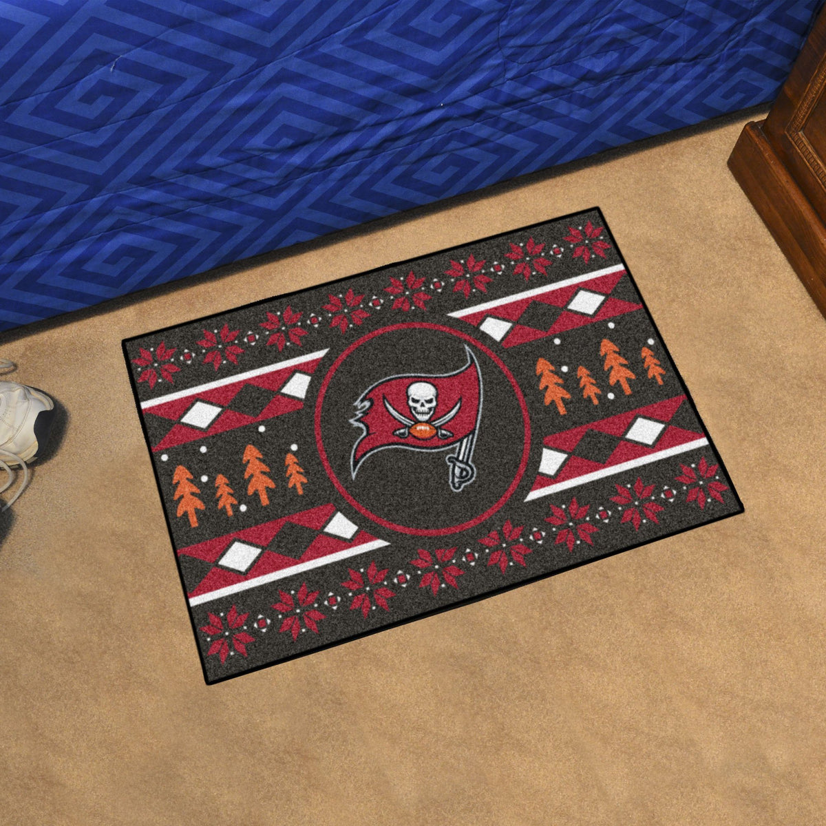 "NFL - Holiday Sweater Starter Mat, 19"" x 30"" NFL Mats, Rectangular Mats, Holiday Sweater Starter Mat, NFL, Home Fan Mats Tampa Bay Buccaneers"