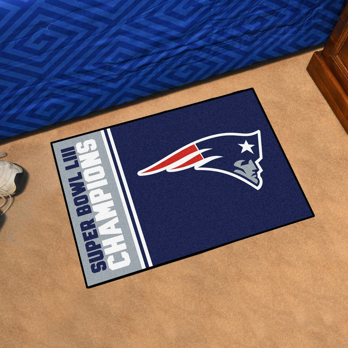 NFL - Kansas City Chiefs Super Bowl LIV Starter Mat NFL Mats, Rectangular Mats, Championship Starter Mat, NFL, Home Fan Mats New England Patriots 2