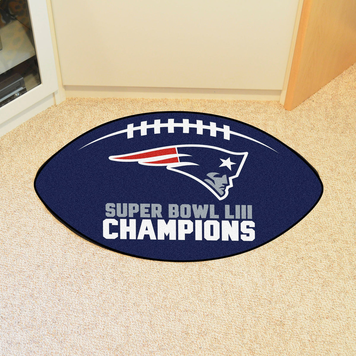 NFL - Football Mat NFL Mats, Custom Shape Rugs, Football Mat, NFL, Home Fan Mats New England Patriots 3