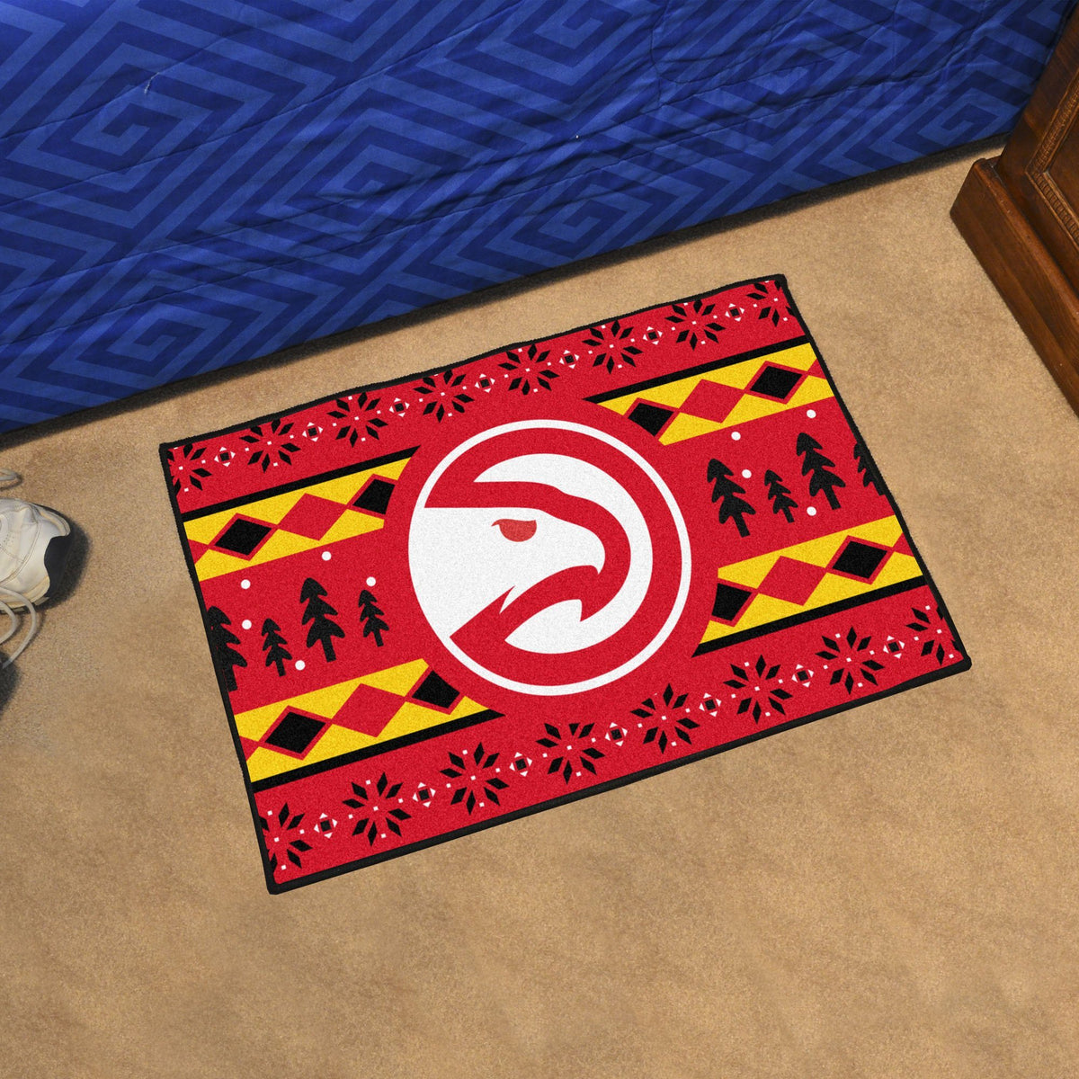 NBA - Holiday Sweater Starter Mat NBA Mats, Rectangular Mats, Holiday Sweater Starter Mat, NBA, Home Fan Mats Atlanta Hawks