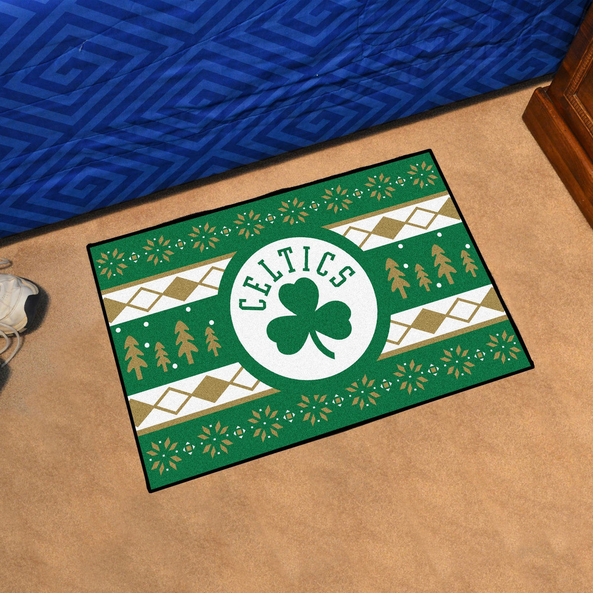 NBA - Holiday Sweater Starter Mat NBA Mats, Rectangular Mats, Holiday Sweater Starter Mat, NBA, Home Fan Mats Boston Celtics