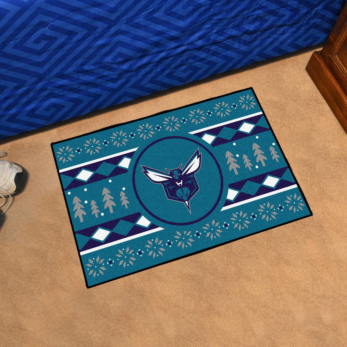NBA - Holiday Sweater Starter Mat NBA Mats, Rectangular Mats, Holiday Sweater Starter Mat, NBA, Home Fan Mats Charlotte Hornets