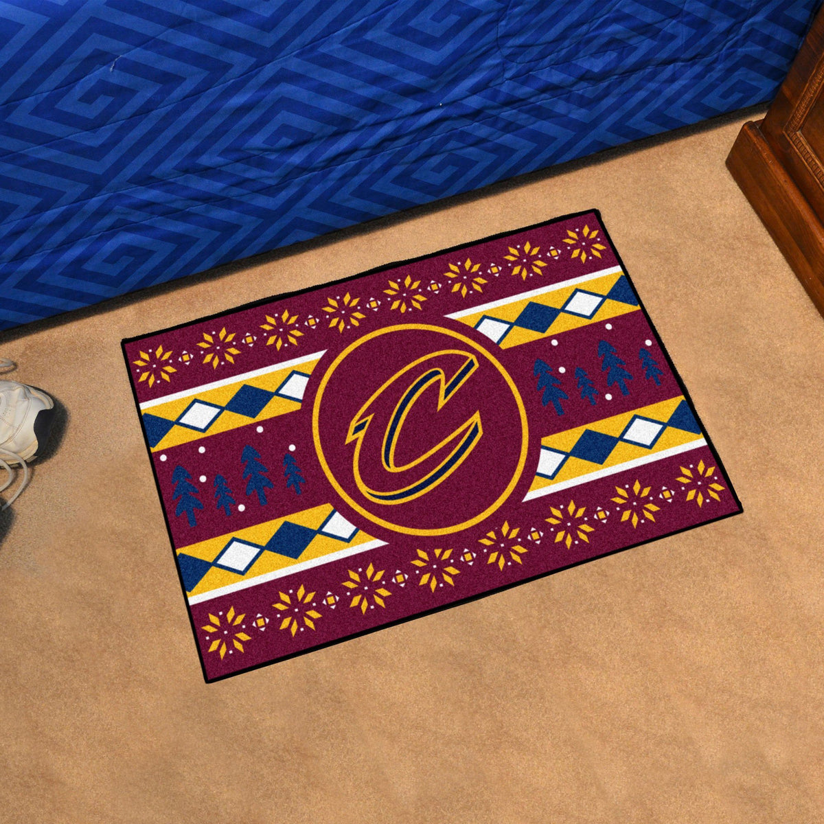 NBA - Holiday Sweater Starter Mat NBA Mats, Rectangular Mats, Holiday Sweater Starter Mat, NBA, Home Fan Mats Cleveland Cavaliers