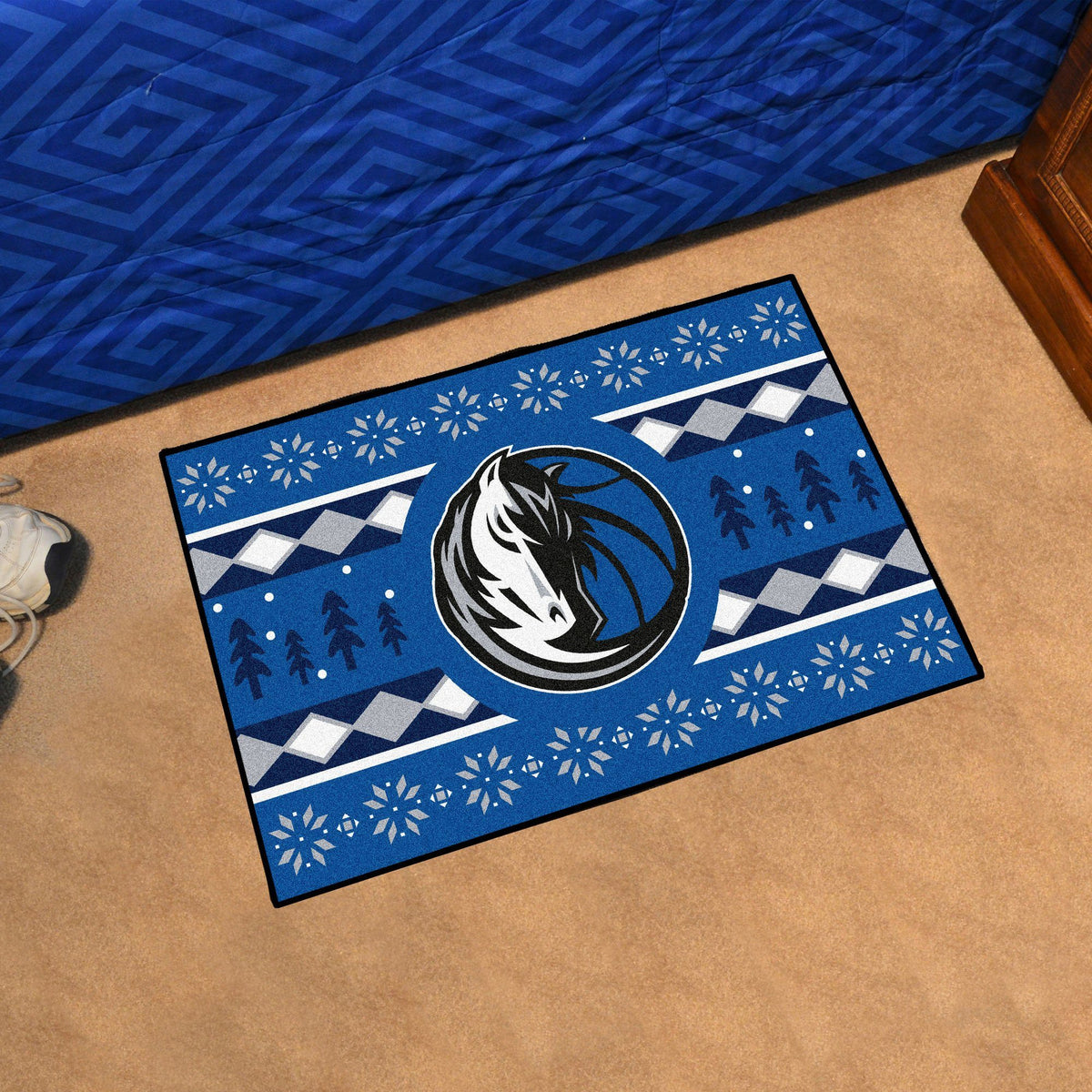NBA - Holiday Sweater Starter Mat NBA Mats, Rectangular Mats, Holiday Sweater Starter Mat, NBA, Home Fan Mats Dallas Mavericks