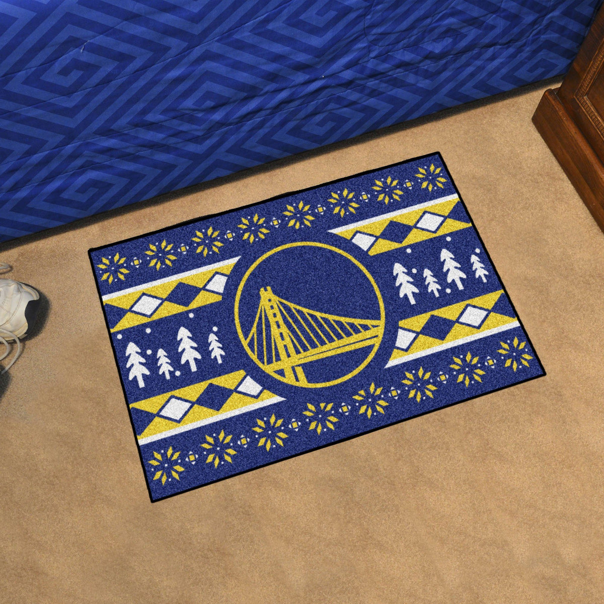 NBA - Holiday Sweater Starter Mat NBA Mats, Rectangular Mats, Holiday Sweater Starter Mat, NBA, Home Fan Mats Golden State Warriors