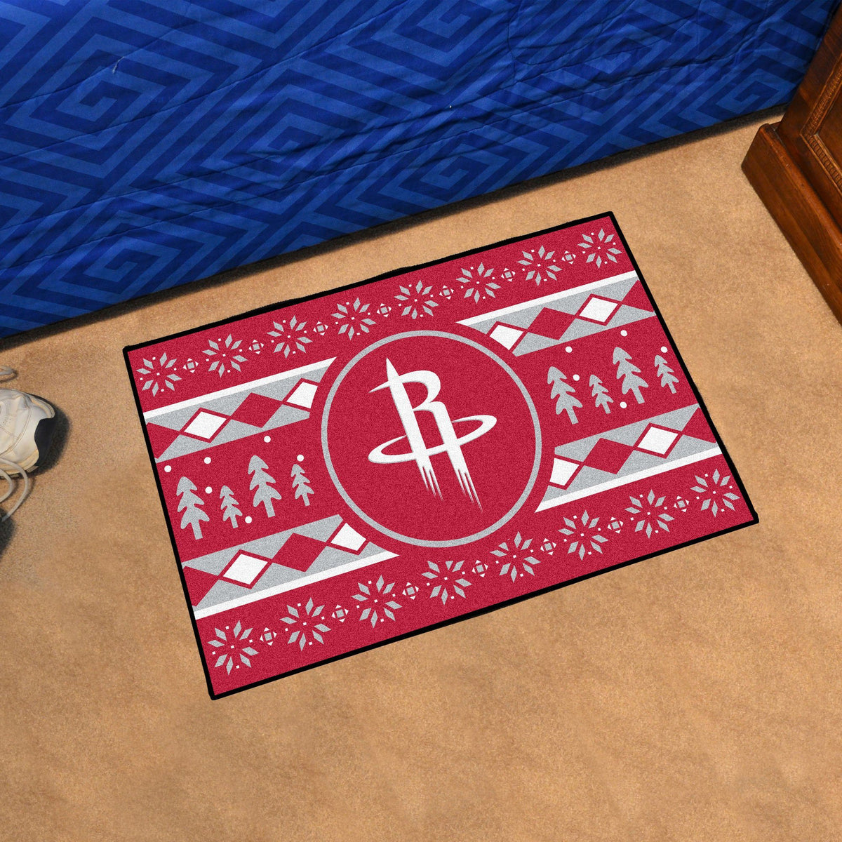 NBA - Holiday Sweater Starter Mat NBA Mats, Rectangular Mats, Holiday Sweater Starter Mat, NBA, Home Fan Mats Houston Rockets