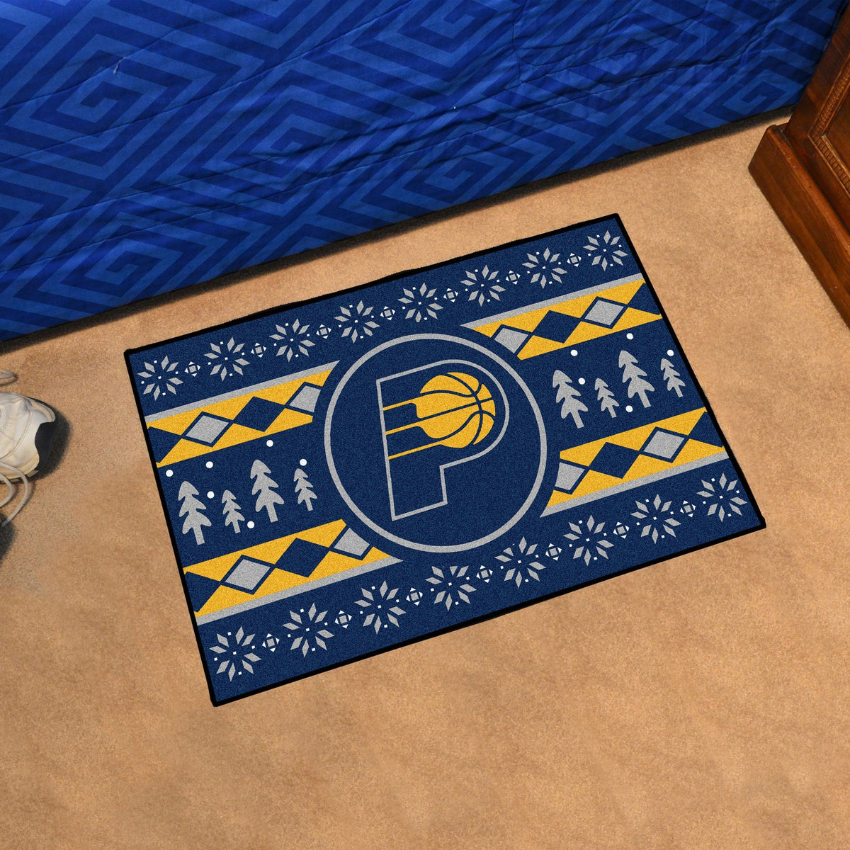 NBA - Holiday Sweater Starter Mat NBA Mats, Rectangular Mats, Holiday Sweater Starter Mat, NBA, Home Fan Mats Indiana Pacers