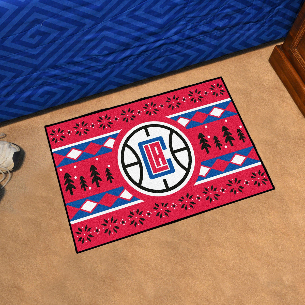NBA - Holiday Sweater Starter Mat NBA Mats, Rectangular Mats, Holiday Sweater Starter Mat, NBA, Home Fan Mats Los Angeles Clippers
